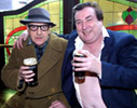 Publicity Photo 3 - In The Pub In Front Of Stained Glass Window - size 446kb